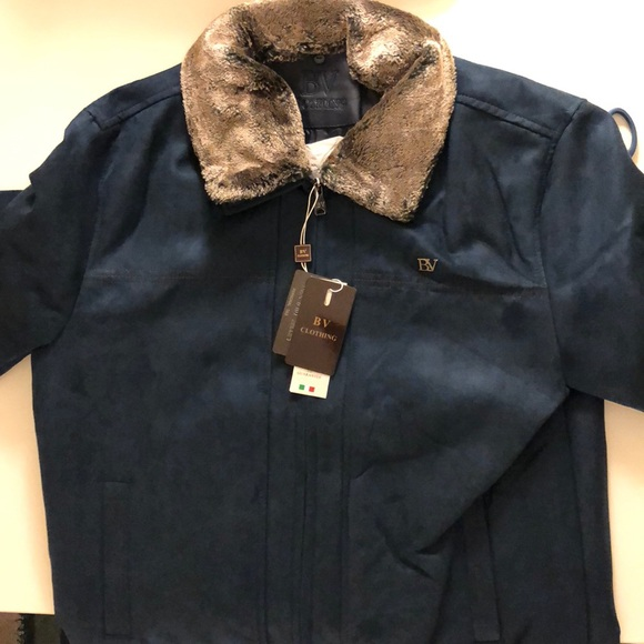 fbda242f0 Leather jacket italian brand BV cloting